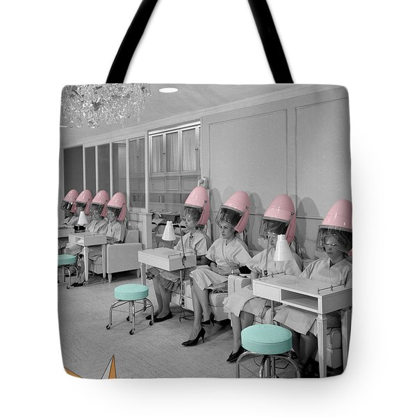 Vintage Hair Salon Tote Bag by Andrew Fare