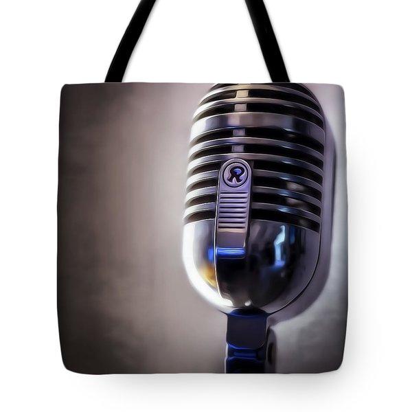 Vintage Microphone 2 Painted Tote Bag by Scott Norris
