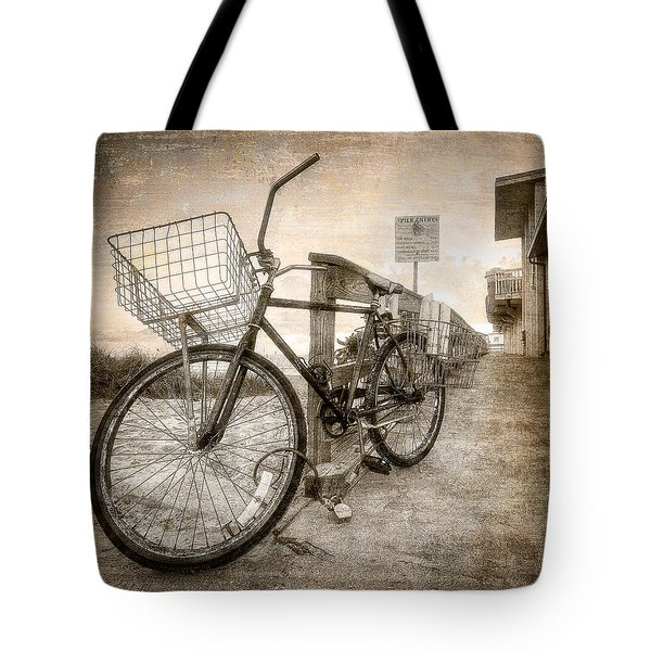 Vintage Ol' Bike Tote Bag by Debra and Dave Vanderlaan