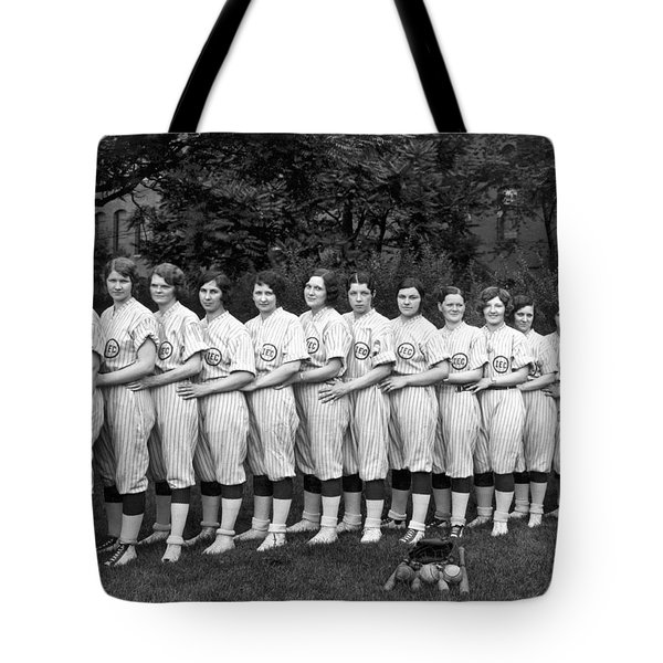 Vintage Photo Of Women's Baseball Team Tote Bag by American School
