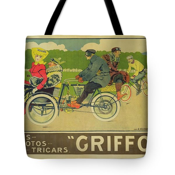 Vintage Poster Bicycle Advertisement Tote Bag by Walter Thor