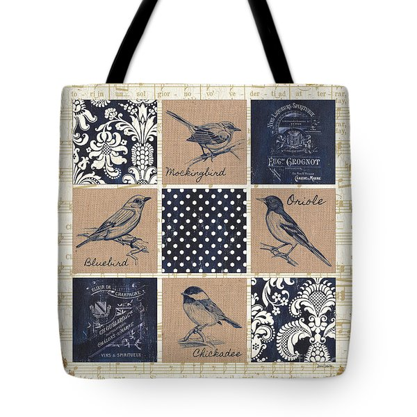 Vintage Songbird Patch 2 Tote Bag by Debbie DeWitt