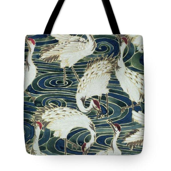Vintage Wallpaper Design Tote Bag by English School