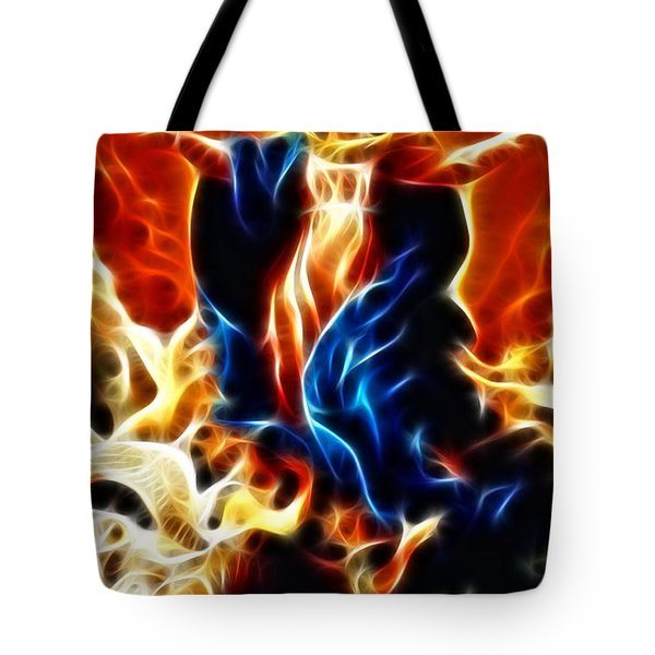 Virgin Mary Assumption Tote Bag by Pamela Johnson