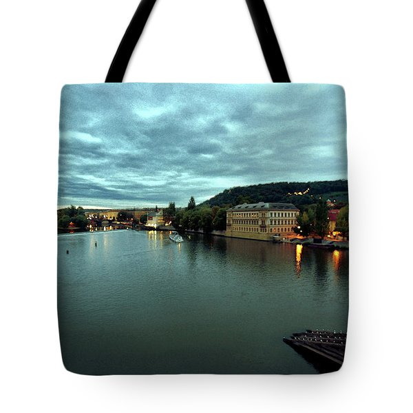Vltava View 2 Tote Bag by Madeline Ellis
