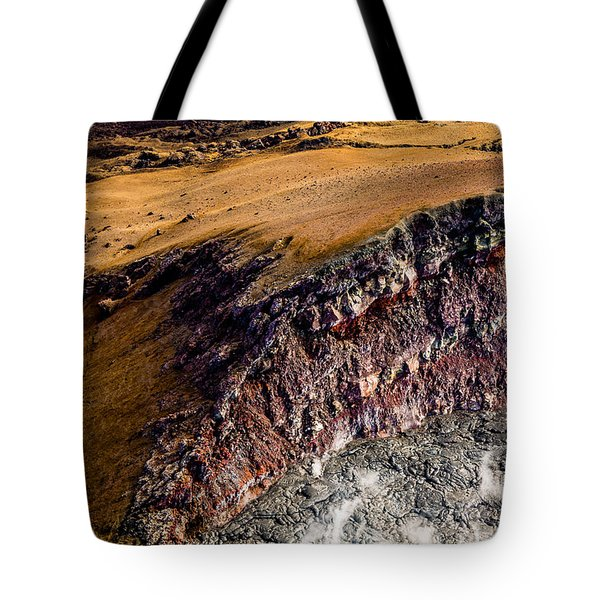Tote Bag featuring the photograph Volcanic Ridge II by M G Whittingham