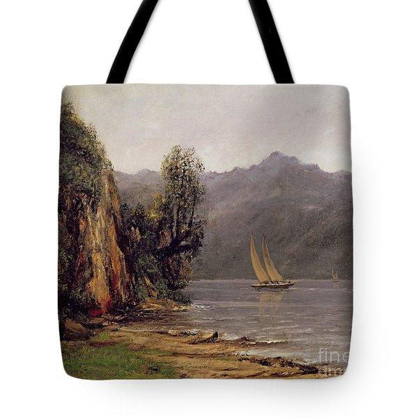 Vue Du Lac Leman Tote Bag by Gustave Courbet