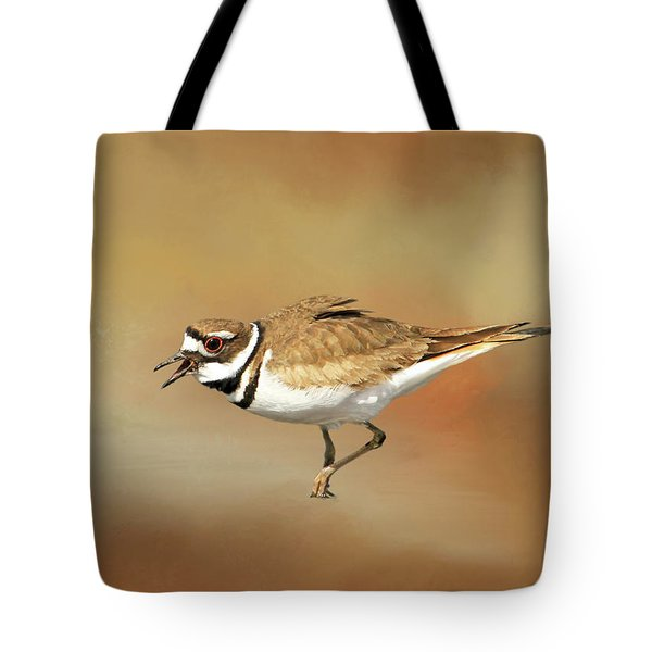 Wading Killdeer Tote Bag by Donna Kennedy