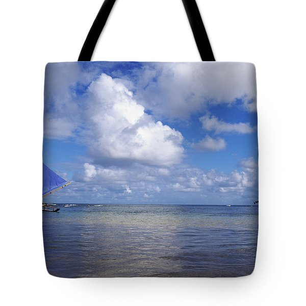Wading to Outrigger Tote Bag by Joss - Printscapes