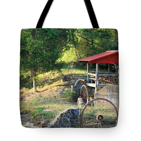 Wagon Shed Tote Bag by Suzanne Gaff