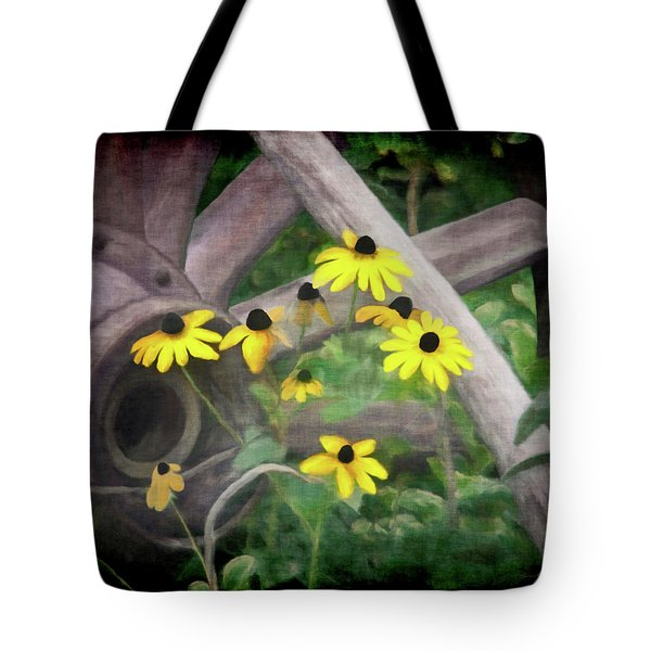 Wagon Wheel 2 Tote Bag by Ernie Echols