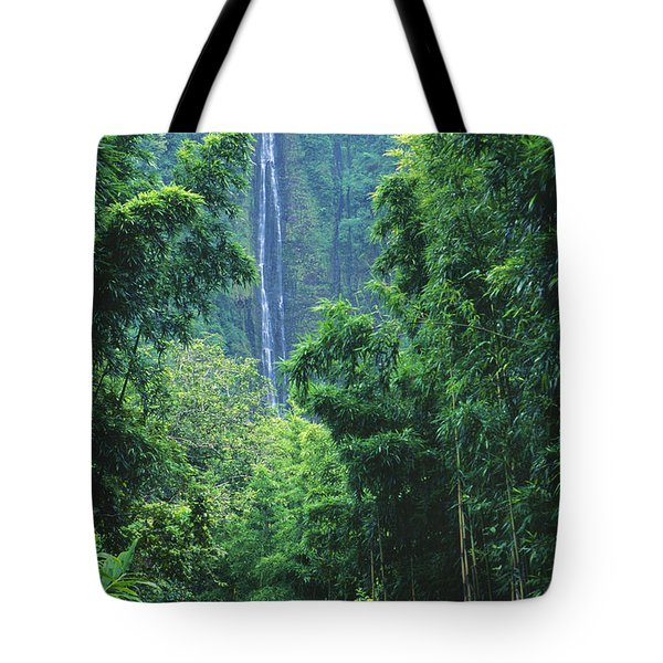 Waimoku Falls Tote Bag by Dave Fleetham - Printscapes