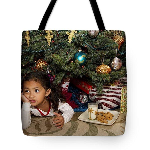 Waiting For Santa Tote Bag by Sri Maiava Rusden - Printscapes