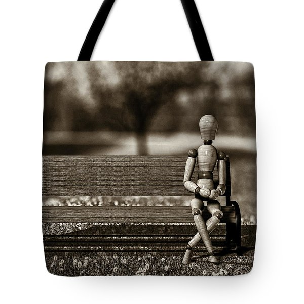 Waiting For The Taxi Tote Bag by Bob Orsillo