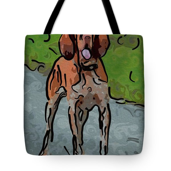 Waiting Patiently Over Here Tote Bag by Omaste Witkowski