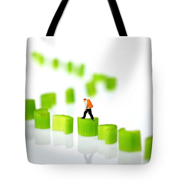 Walking On Celery  Tote Bag by Paul Ge