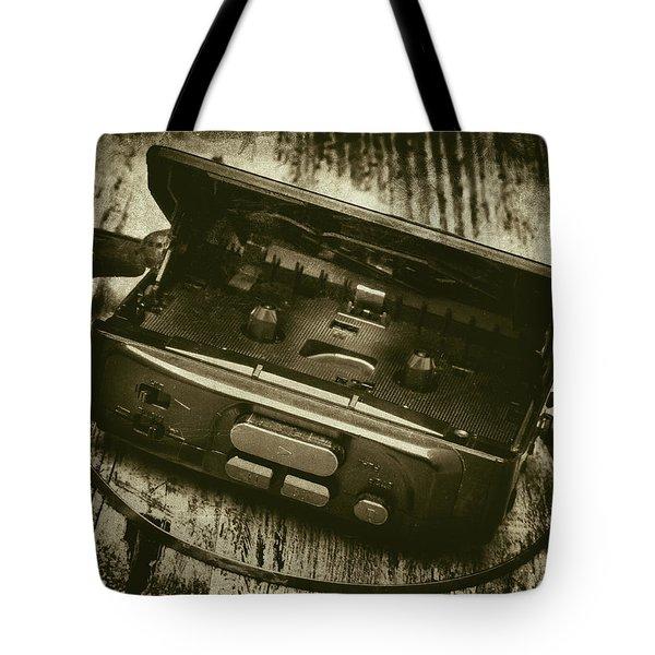Walkman Tote Bag by Wim Lanclus