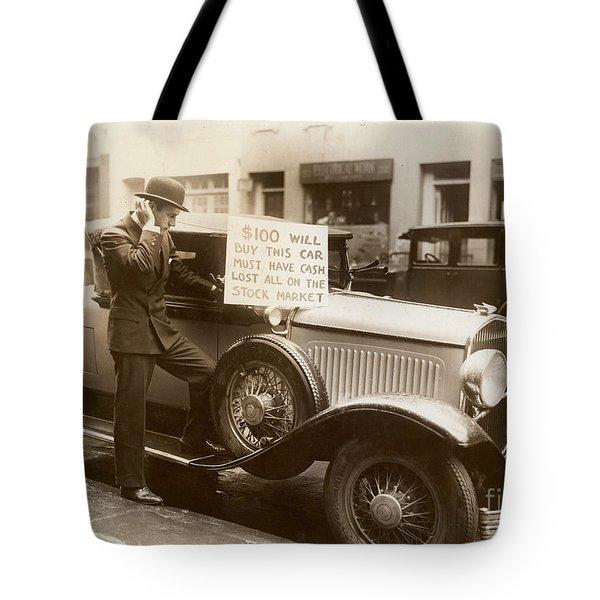Wall Street Crash, 1929 Tote Bag by Granger