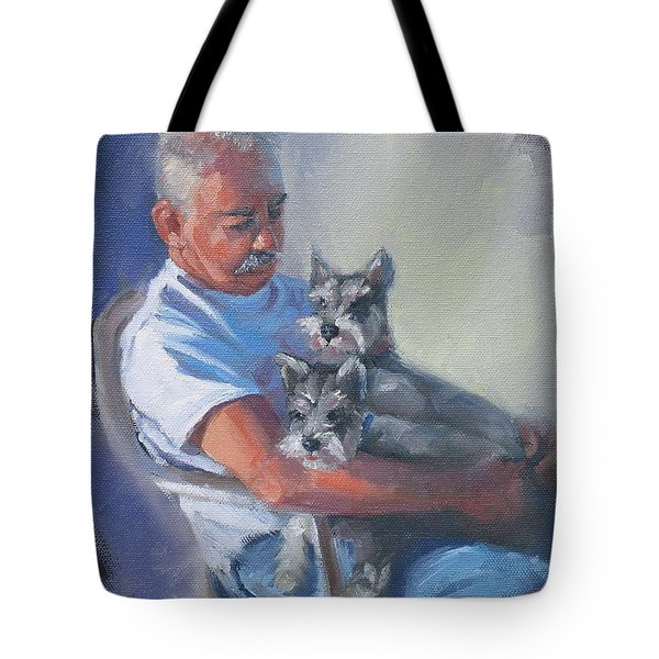 Walter And The Kids Tote Bag by Laura Lee Zanghetti