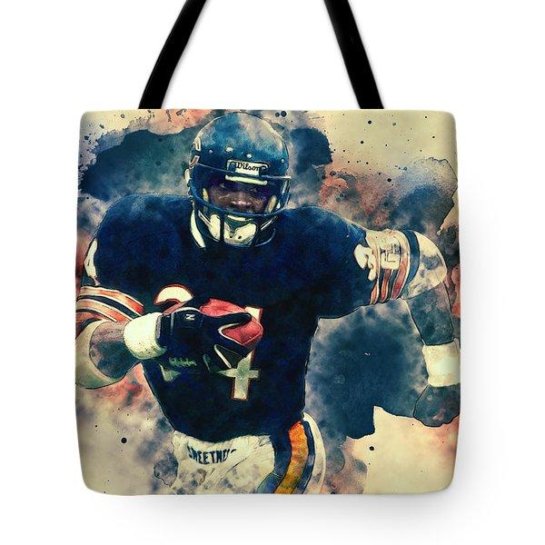 Walter Payton Tote Bag by Taylan Apukovska