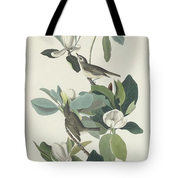 Warbling Flycatcher Tote Bag by John James Audubon