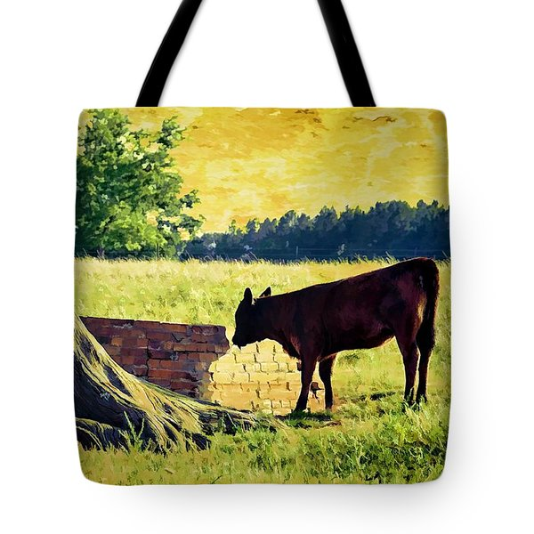 Warming Up In The Morning Glow Tote Bag by Jan Amiss Photography
