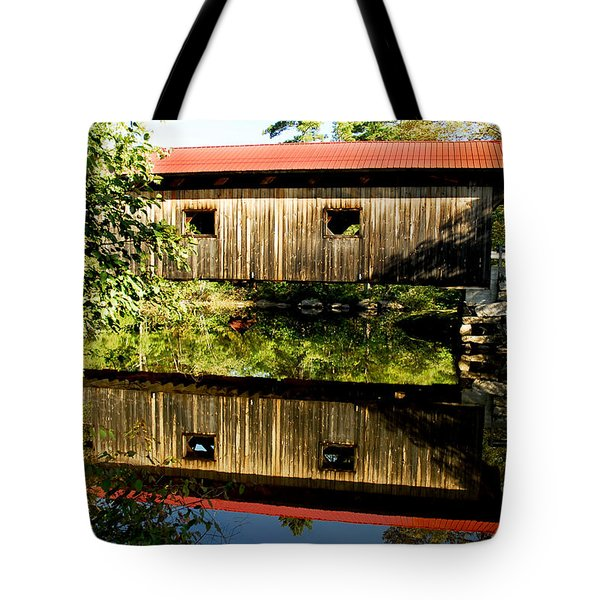 Warner Covered Bridge Tote Bag by Greg Fortier