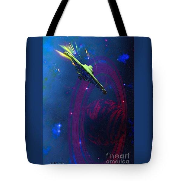 Warp Pulse Tote Bag by Corey Ford