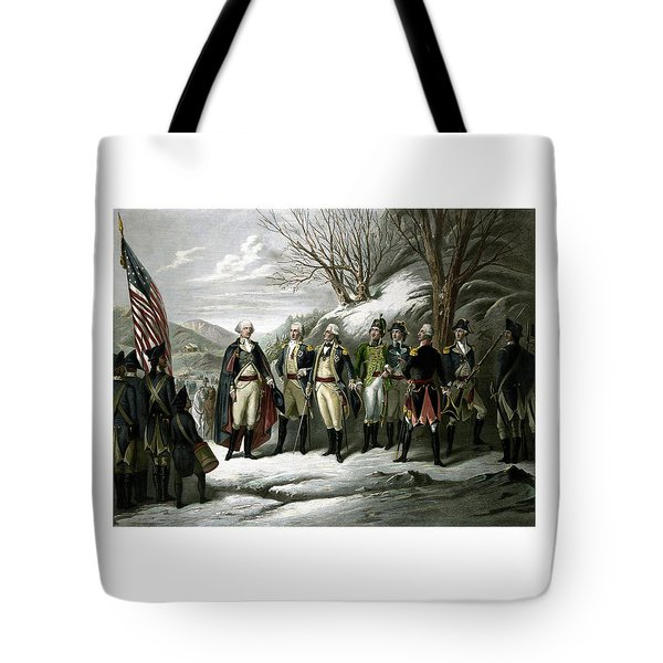 Washington And His Generals  Tote Bag by War Is Hell Store