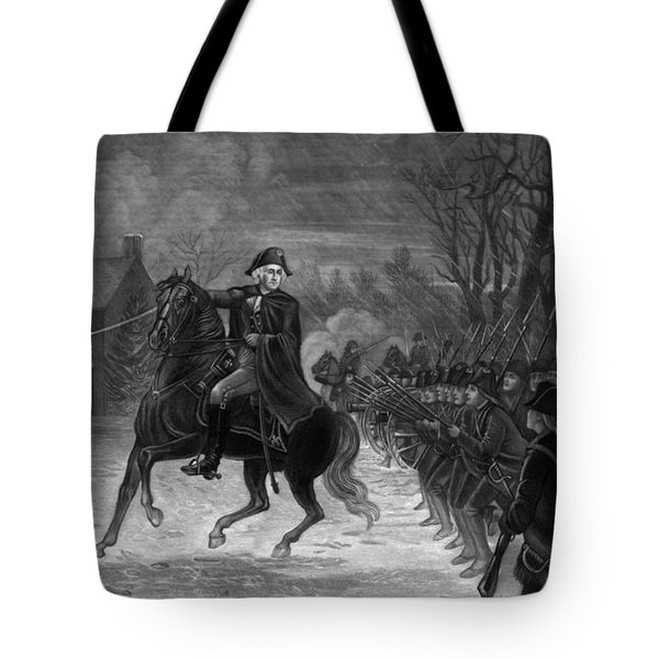 Washington At The Battle Of Trenton Tote Bag by War Is Hell Store