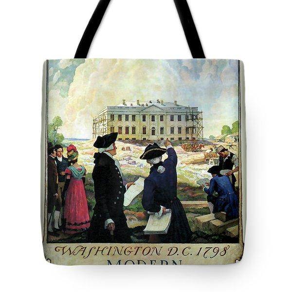 Washington D C Vintage Travel 1932 Tote Bag by Daniel Hagerman