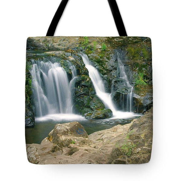 Washington Falls 3 Tote Bag by Marty Koch