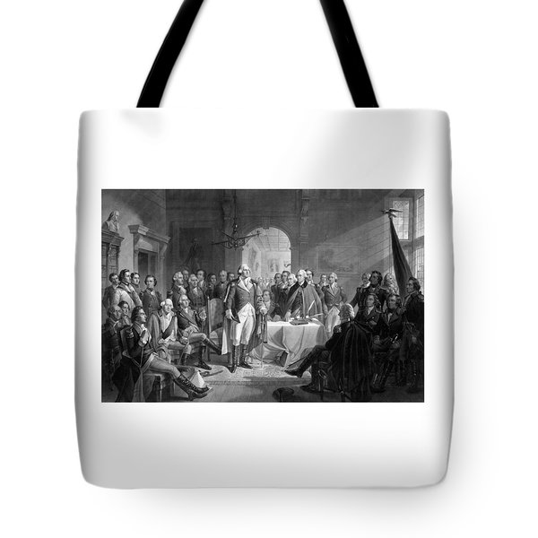 Washington Meeting His Generals Tote Bag by War Is Hell Store