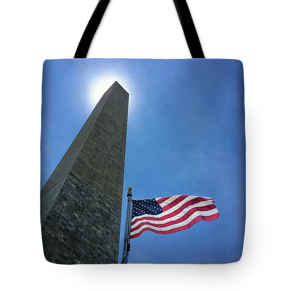 Washington Monument Tote Bag by Andrew Soundarajan