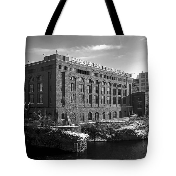 WASHINGTON WATER POWER POST STREET STATION - SPOKANE WASHINGTON Tote Bag by Daniel Hagerman