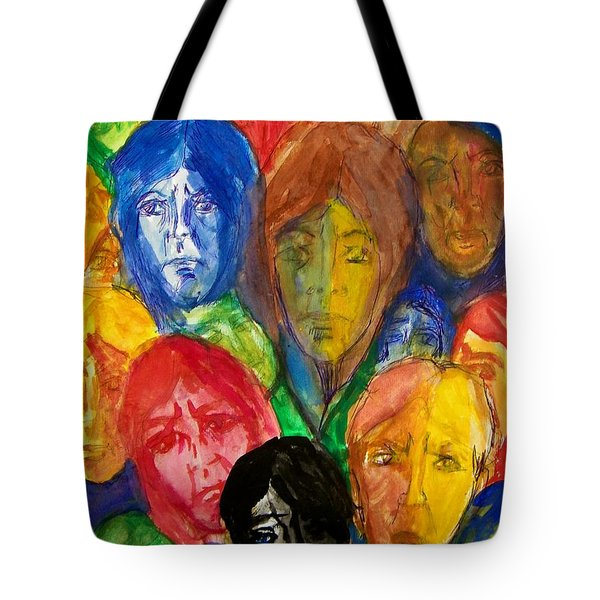 Watching On 9-11 Tote Bag by Judith Redman