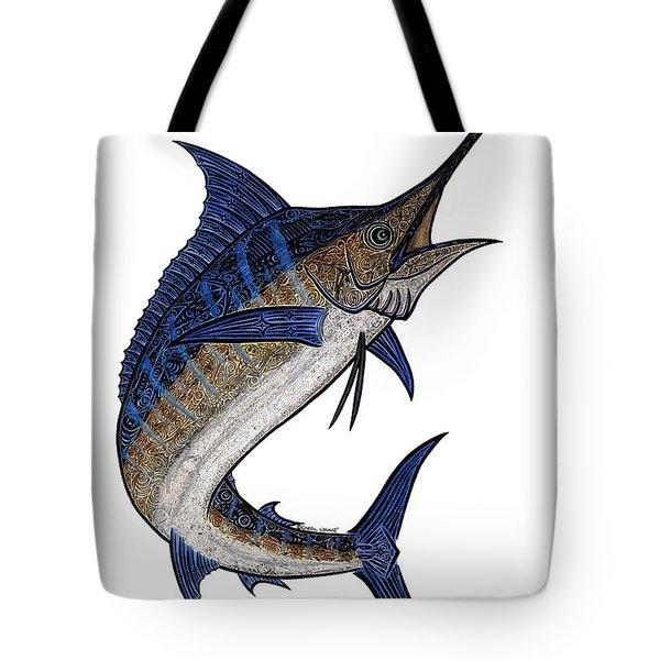 Water Color Tribal Marlin IIi Tote Bag by Carol Lynne