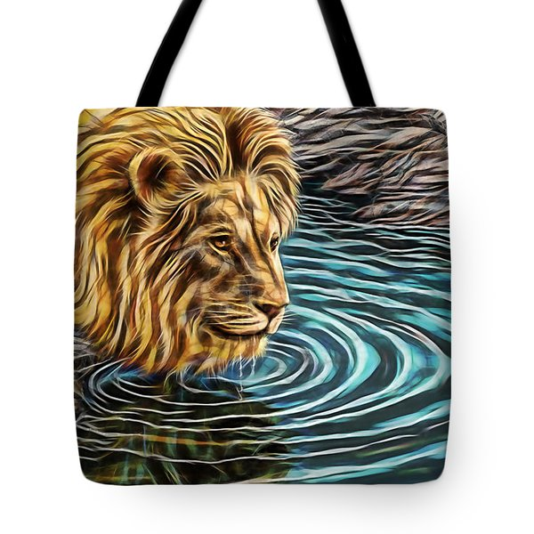 Water Hole Tote Bag by Marvin Blaine