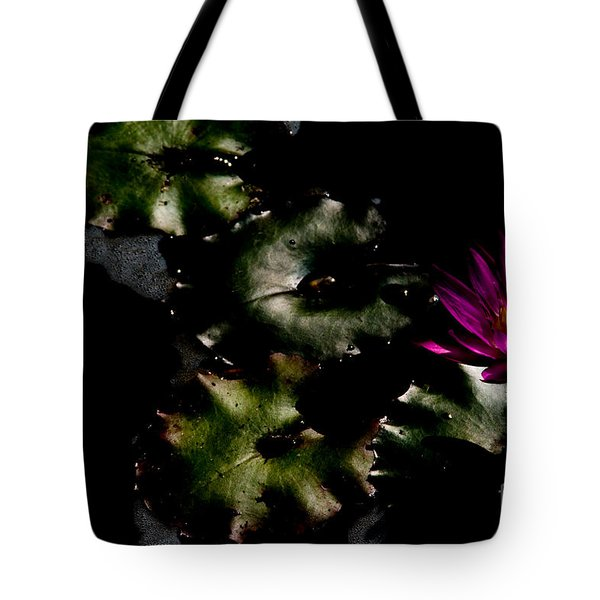 Water Lily At Dusk Tote Bag by Venetta Archer
