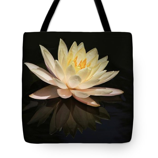 Water Lily Reflected Tote Bag by Sabrina L Ryan