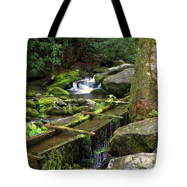 Water Sluice  Tote Bag by Marty Koch
