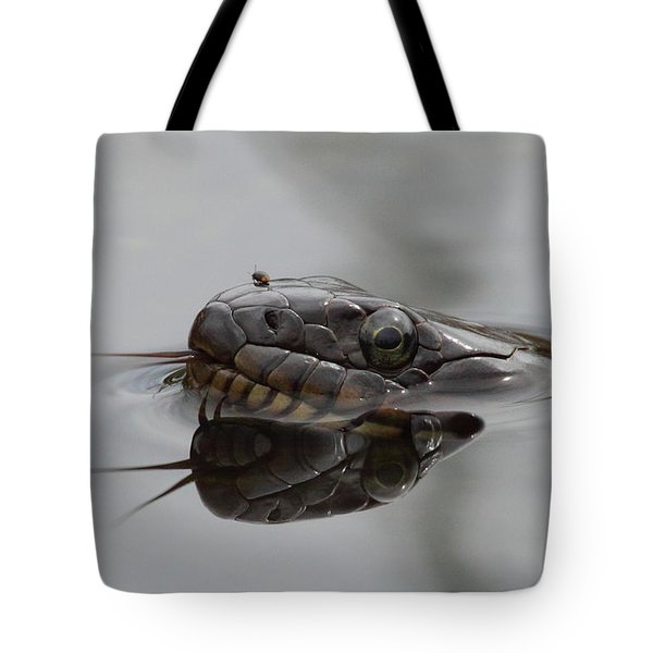 Water Snake And Hitchhiker Tote Bag by Bruce J Robinson