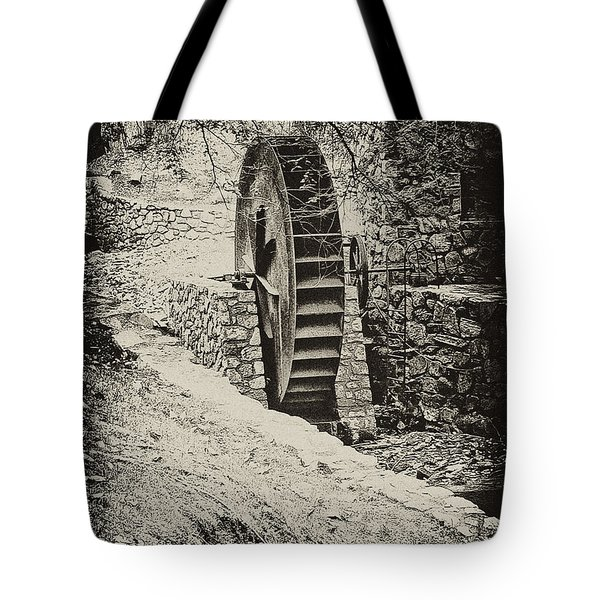 Water Wheel Tote Bag by Bill Cannon
