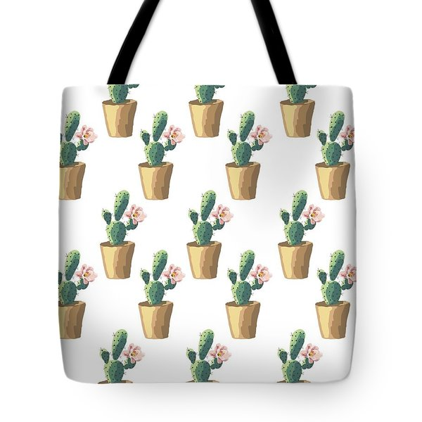 Watercolor Cactus Tote Bag by Roam  Images