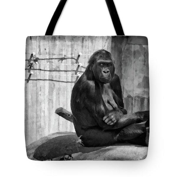Watercolor Gorilla Tote Bag by Joan Carroll