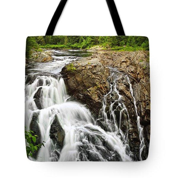 Waterfall In Wilderness Tote Bag by Elena Elisseeva