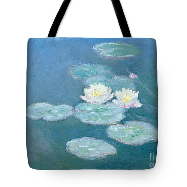 Waterlilies Evening Tote Bag by Claude Monet