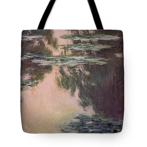 Waterlilies With Weeping Willows Tote Bag by Claude Monet