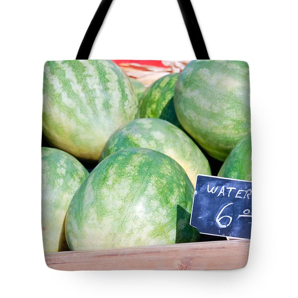 Watermelons With A Price Sign Tote Bag by Paul Velgos