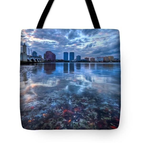 Watery Treasure Tote Bag by Debra and Dave Vanderlaan
